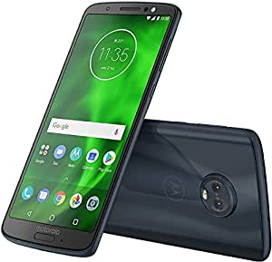 "Motorola Moto G6 Plus XT1926 64GB Deep Indigo, 5.9"", Dual Sim, GSM Unlocked International Model, No Warranty (Black/Blue)"