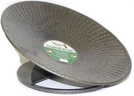 "Metal Flying Saucer Wheel - The Treadmill Wheel 14"" Black"