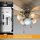 ENERLITES 3 Speed Ceiling Fan Control and LED