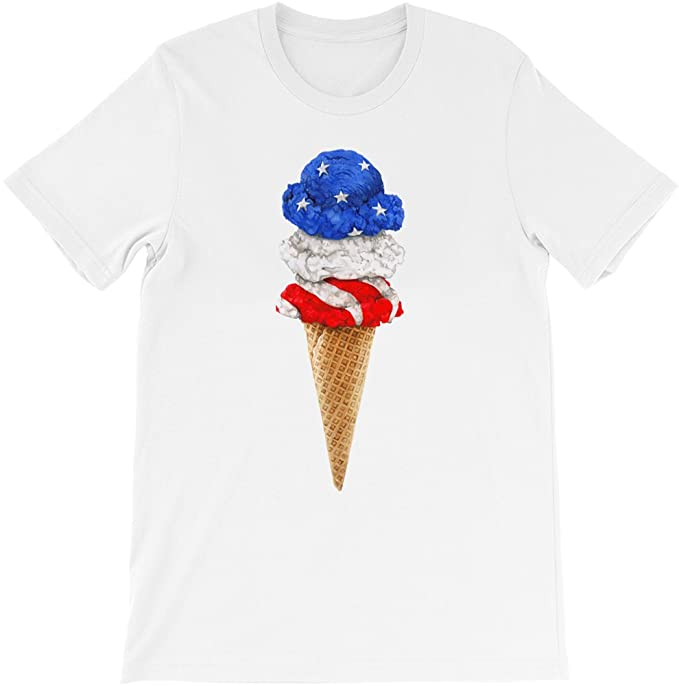buy popular b2b98 61bf4 Egoteest - Patriotic Shirt - American Ice Cream - Veterans ...