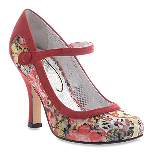 7 Red Licence Feminine M Poetic Women's Encounters 5 Fabric Red heels nx04nFqfw