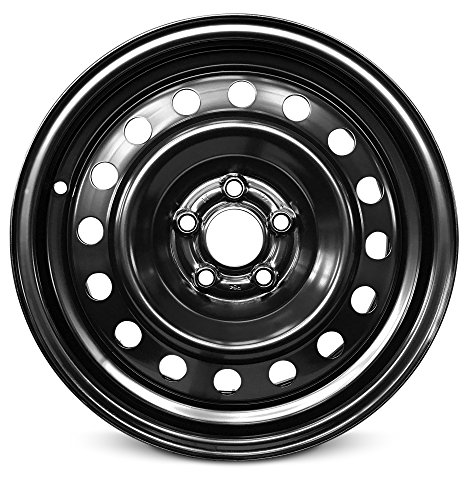 New 15x6 Inch 5 Lug 03-10 Chrysler PT Cruiser Full-Size Black Steel Replacement Wheel Rim 15