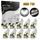 toyota highlander interior lights - Partsam 10PCS White T10 Wedge 194 168 W5W Interior Dome Map LED Lights Lamp Bulbs