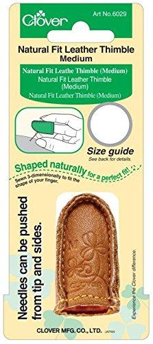 Skin Thimble - Clover Medium Natural Fit Leather Thimble