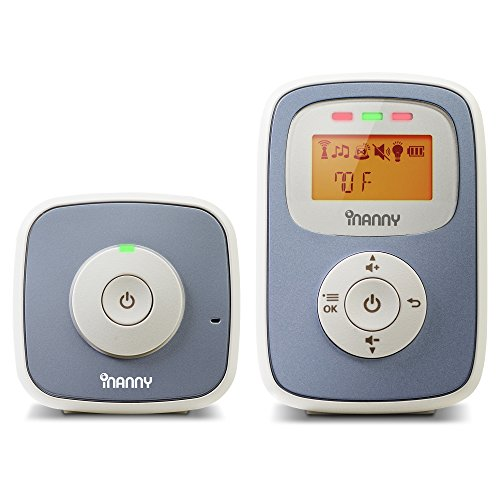 (iNanny N30 Digital Audio Baby Monitor with Backlit LCD Display)