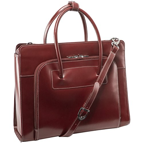 McKleinUSA LAKE FOREST 94336 Red Leather Women's Case w/ Removable Sleeve