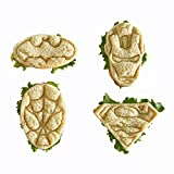 SUPERHERO MINI SANDWICHES - COOKIES CUTTERS Fun set of BATMAN, SUPERMAN, SPIDERMAN and IRON MAN. Perfect for Making Cookies, Mini Sandwiches, Shapped Cheese, Fruits, Ham and Bologna