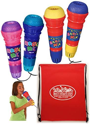 (Toysmith Original Magic Mic & Translucent Magic Mic Complete Gift Set Bundle with Bonus Matty's Toy Stop Storage Bag - 4 Pack)