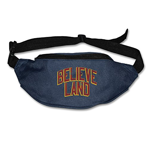 Money Belt Waist Wallet For Men & Women - Vintage Believe Land Team Running Travel Ponch, Keys Cashes ID Card Ticket Holder Navy