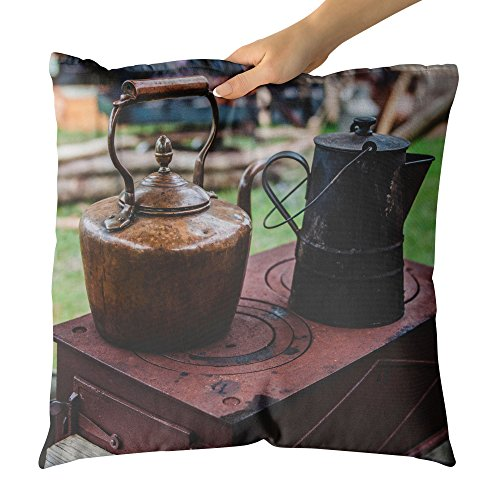 Westlake Art - Throw Pillow Cover - Kettle Barbecue - Photography Home Decor Living Room - 18x18in (g8r 412 751) (Barbecue Range Covers)