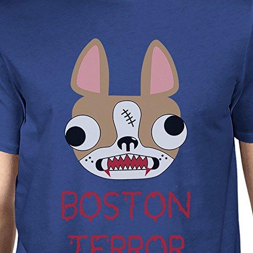 Blue corta Terrier 365 hombre para de Terror Size Camiseta One Boston Printing manga qWIwPnZ7I