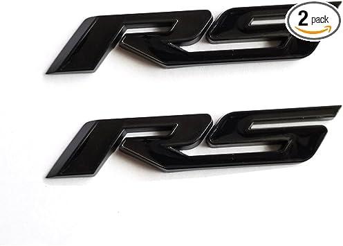 Yoaoo 1x OEM Black RS Decal Emblem Badge 3d Allloy for Camaro GM Series Matte Black Red