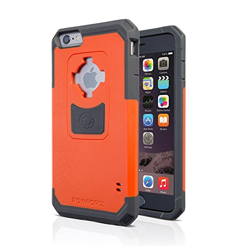 Rokform iPhone 6/6s PLUS Rugged Series Military Grade Magnetic Protective Phone Case with twist lock & universal magnetic car mount (Orange) 302354