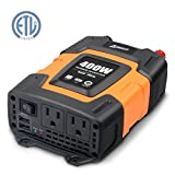 Ampeak 400W Car Power Inverter DC 12V to 110V AC Converter (Small image)