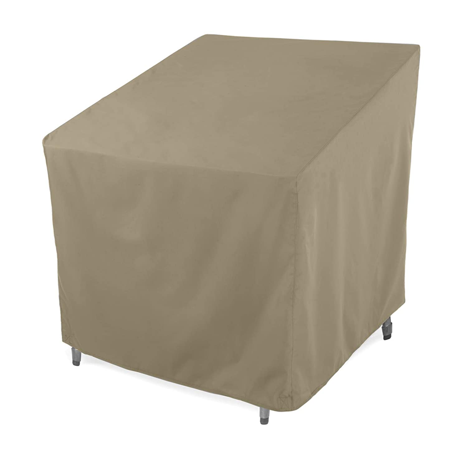 """SunPatio Outdoor Club Chair Cover, Water Resistant, Lightweight, Helpful Air Vents, All Weather Protection, 33.5"""" W x 37"""" D x 36"""" H, Neutral Taupe"""