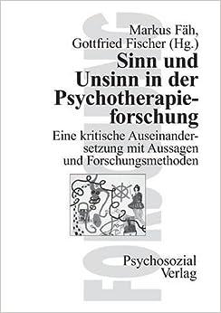 Gottfried Fischer und unsinn in der psychotherapieforschung german edition