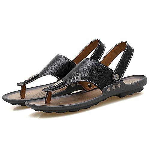I sandali di svago di uso doppio di modo degli uomini di tendenza dei sandali di estate ansimano i sandali di svago, il nero, UK = 9.5, EU = 44