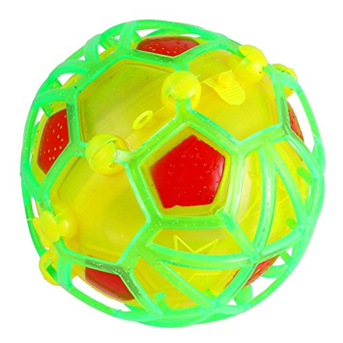 Flashing Soccer Ball (WhynoTT Jumping Joggle Bopper Light Up Bouncing Vibrating Gleams Gift Toy/Vibrating Light-up Self Bouncing Fusion Ball Flashing Musical Dancing Soccer)
