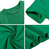 COSLAND Youth Boys' Plain T-Shirts, Green, Small