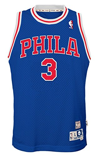(Outerstuff Allen Iverson Philadelphia 76ers NBA Youth Throwback Swingman Jersey - Blue)