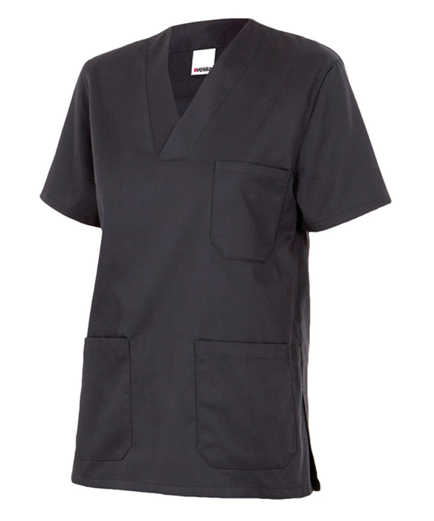 Negro 2 Velilla 589//C0//T2 Camisola Pijama de Manga Corta con Escote en Pico