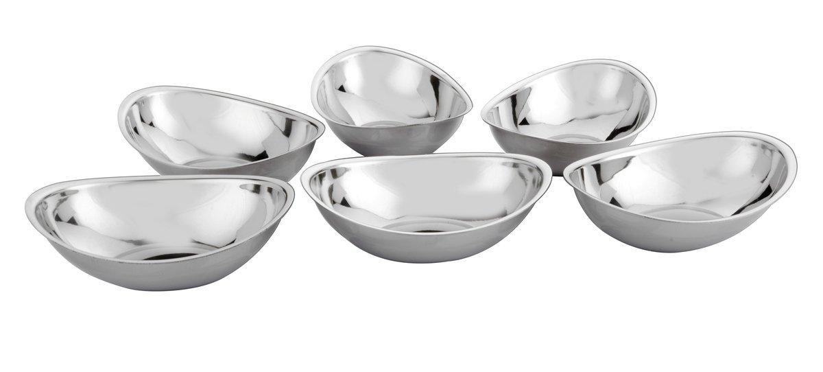 Bhalaria Stainless Steel Bowl Set, 228ml, Set of 6, Silver