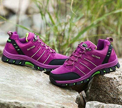 Y Fuweiencore De Púrpura Transpirables Tamaño Zapatos Deportivo color Calzado Antideslizante Alpinismo 37 Impactantes Púrpura BHwxq1T0Hp