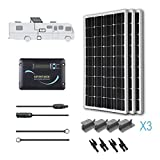 Renogy 300 Watts 12 Volts Monocrystalline Solar RV Kit with Adventurer