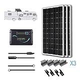 Renogy 300 Watts 12 Volts Monocrystalline Solar RV Kit with Adventurer