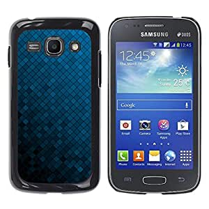 Paccase / SLIM PC / Aliminium Casa Carcasa Funda Case Cover - Texture Blue Cubes - Samsung Galaxy Ace 3 GT-S7270 GT-S7275 GT-S7272
