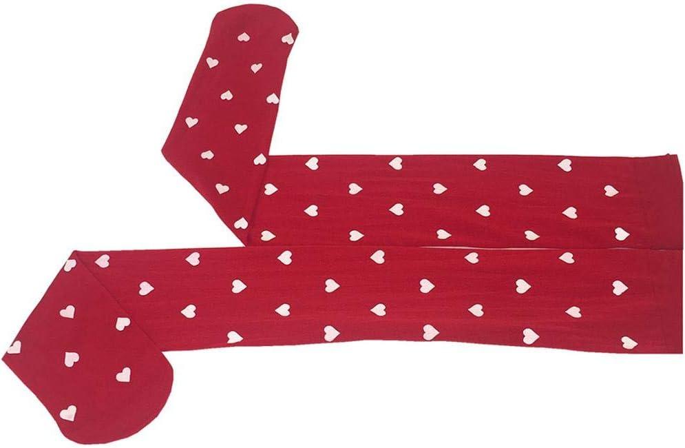 Fancylande Calze sopra Il Ginocchio Calze Elastiche Calze a Forma di Cuore Stampate a Forma di Cuore Adatte per Appuntamenti o Tutti i Giorni