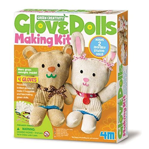 4M Green Creativity Glove Doll Making Kit by Great Gizmos