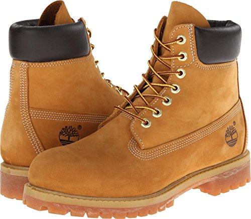 Timberland Men's 6 inch Premium Waterproof Boot Fashion, Wheat Nubuck, 10 from Timberland