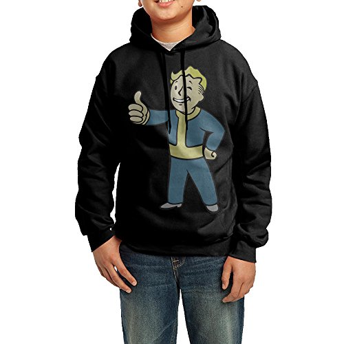 GGDD Boys & Girls Vault Boy Hip-Hop Cool Hoodie Hoodies Leisure Style L (Fallout Armor Costume)