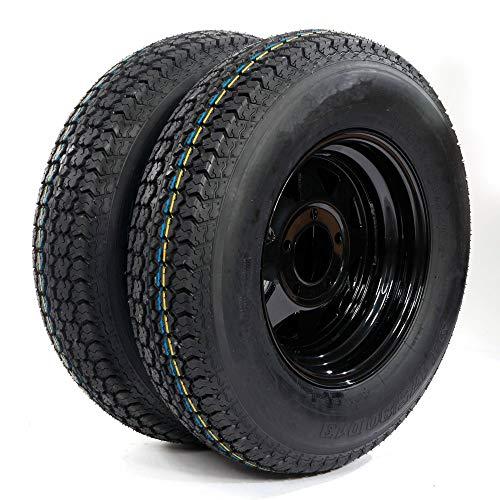 2 of Trailer Tire & Rim ST175/80D13 5 Lug black Spoke LRC Bias (5×4.5 bolt circle) TIRES H188 17580D13 5 on 4.5″ B78-13 Load Range C tires