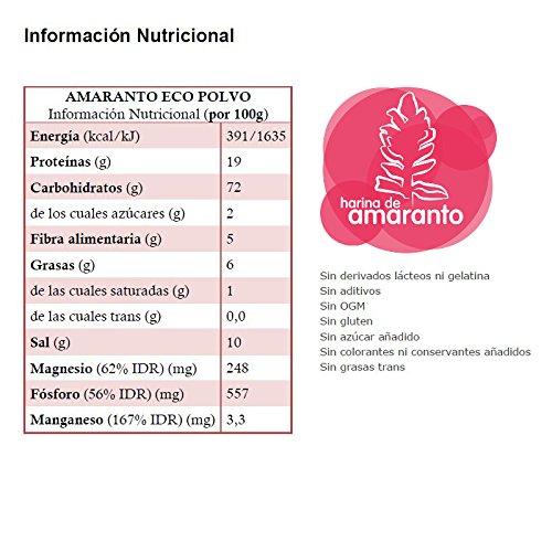 Energy Feelings Amaranto Ecológico en Polvo, XXL - 3 Paquetes de 1000 gr - Total: 3000 gr: Amazon.es: Salud y cuidado personal