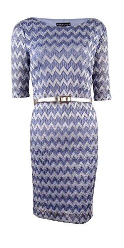 Vêtements Connectés Femmes Robe De Cocktail Petites- Dentelle Métallique Bleu