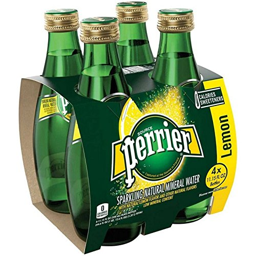 PERRIER, Sparkling Water, Lemon, Pack of 6, Size 4/11 FZ