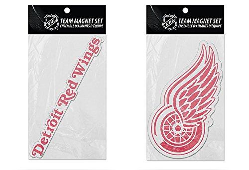 Rico Industries NHL Detroit Red Wings 2-Pack Die Cut Team Logo Magnet Set