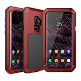 Galaxy S9 Plus Case, Amever Water Resistant Aluminum Metal Alloy Bumper Frame [ Shockproof Dropproof Dirtyproof ] Anti Shake Outdoor Sports Protective Back Cover Case for Samsung Galaxy S9 Plus