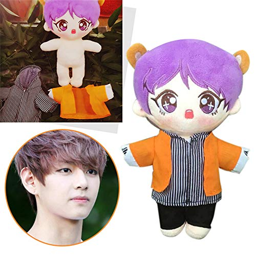 Misisi BTS Bangtan Boys Carton Jimin V Suga Plush Doll Toy Soft Stuffed Doll (v-A) ()