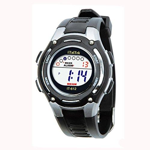 - Children Boys Girls New Swimming Sports Digital Waterproof Wrist Watch by Rakkiss (Black)