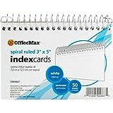 OfficeMax Spiral-Bound Index Cards, 3 x 5, 50/pk