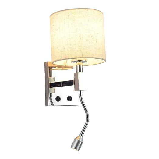 Lámpara de pared de diseño moderno con tubo ajustable LED 1W ...