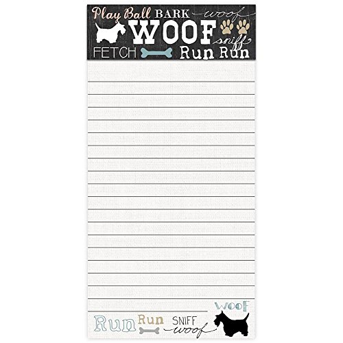 Molly & Rex Magnetic 100 Sheet List Pad - Woof Scottie 33006