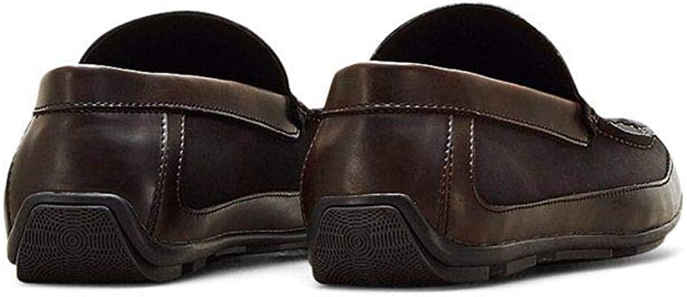 Kenneth Cole REACTION Mens Lap of Luxury Moc Toe Driver Loafer Brown 12