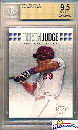 Aaron Judge 2013 Leaf Draft New York Yankees Baseball ROOKIE Card Graded SUPER HIGH BGS 9.5 GEM MINT! Released 4 YEARS Before his 2017 Topps Rookie Cards! Yankees Home Run Hitting Superstar!