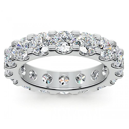 4.00 ct Ladies Round Cut Diamond Eternity Wedding Band Ring in Platinum In Size 7 (Diamond Eternity Platinum Ring)