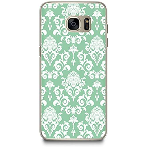 Case for Samsung S7, CasesByLorraine Damask Mint Green Elegant Vintage Pattern Case Plastic Hard Cover for Samsung Galaxy S7 (P07) Sales