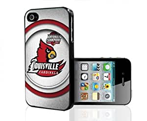 Louisville Cardinals National Champions White Background Hard Snap on Cell Phone Case Cover iPhone (4 4s) by icecream design